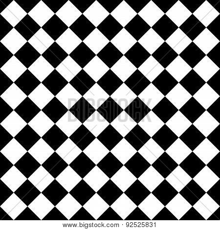 Seamlessly Repeatable Vector Pattern. Checkered (chequered) Background With Tilted Squares.