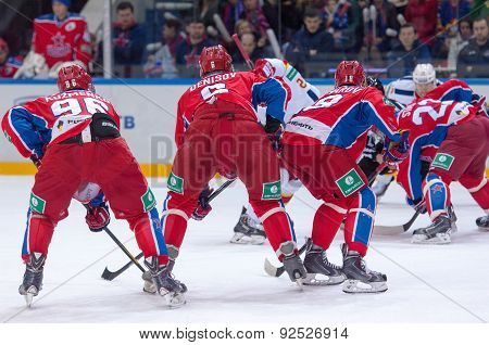 Cska Team On Faceoff