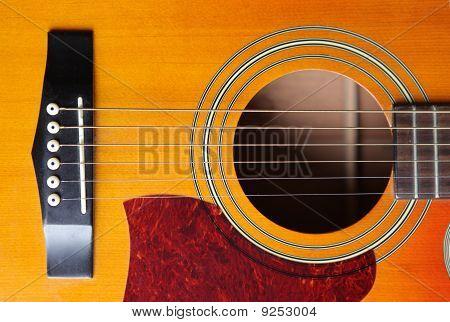 Acoustic Guitar Bridge And Strings