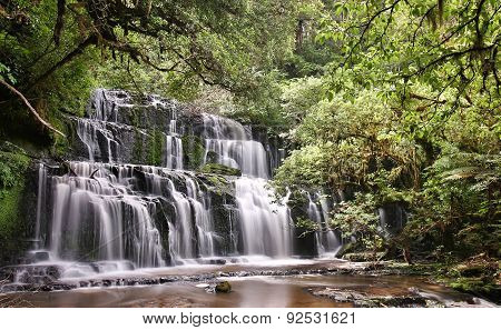 Purakaunui Falls (Catlins Forest Park New Zealand)