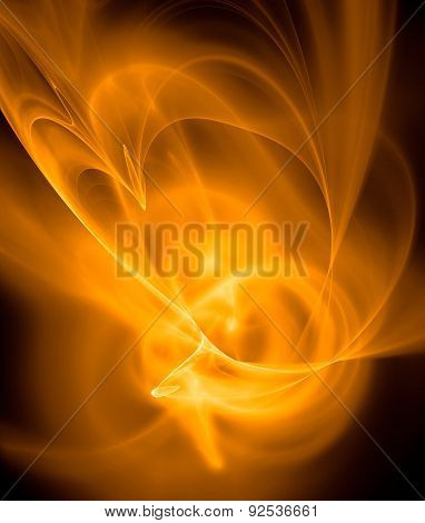 Abstract Ardent Background In Yellow, Black And Orange
