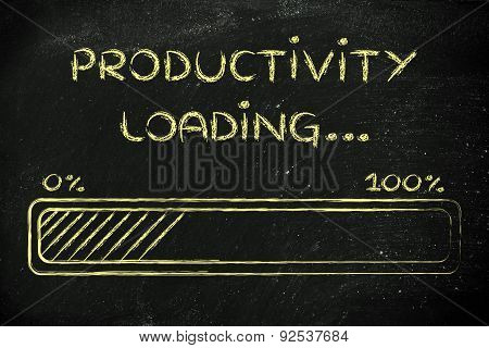 Funny Progress Bar With Productivity Loading