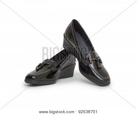 Woman Shoes Isolated On White. Nice Woman Shoes