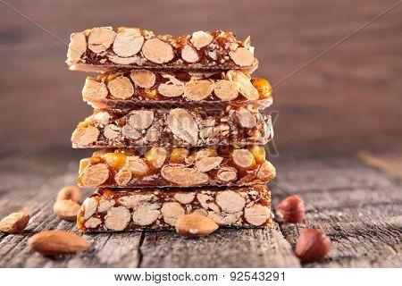 almond honey bar poster
