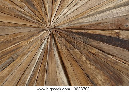 Different Kinds Of Woodchips In A Geometric Shape