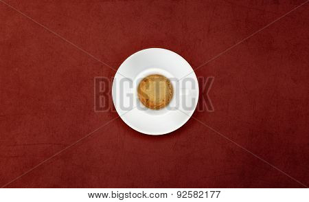 Cup Of Coffee On Marble Table