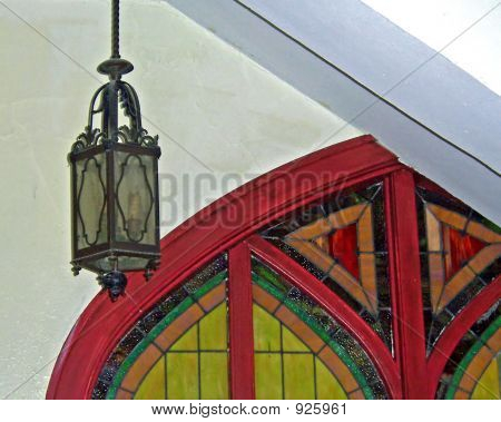 Stained Glass Door And Lantern