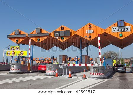 Toll Gate On The Highway