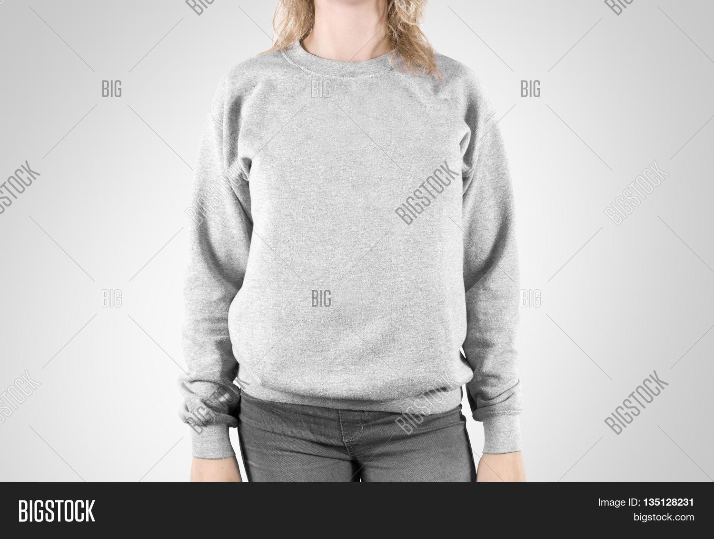 Blank Sweatshirt Mock Isolated. Image & Photo | Bigstock