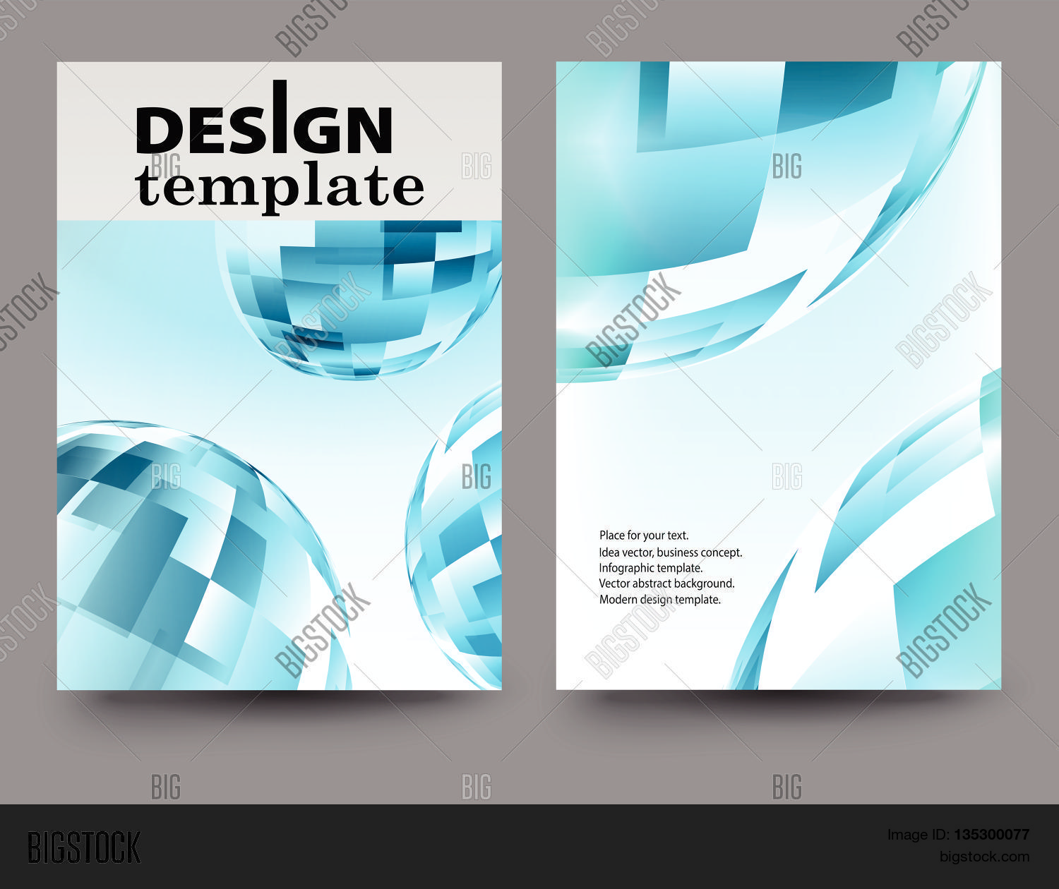 Brochure Design Template.Vector Vector & Photo | Bigstock
