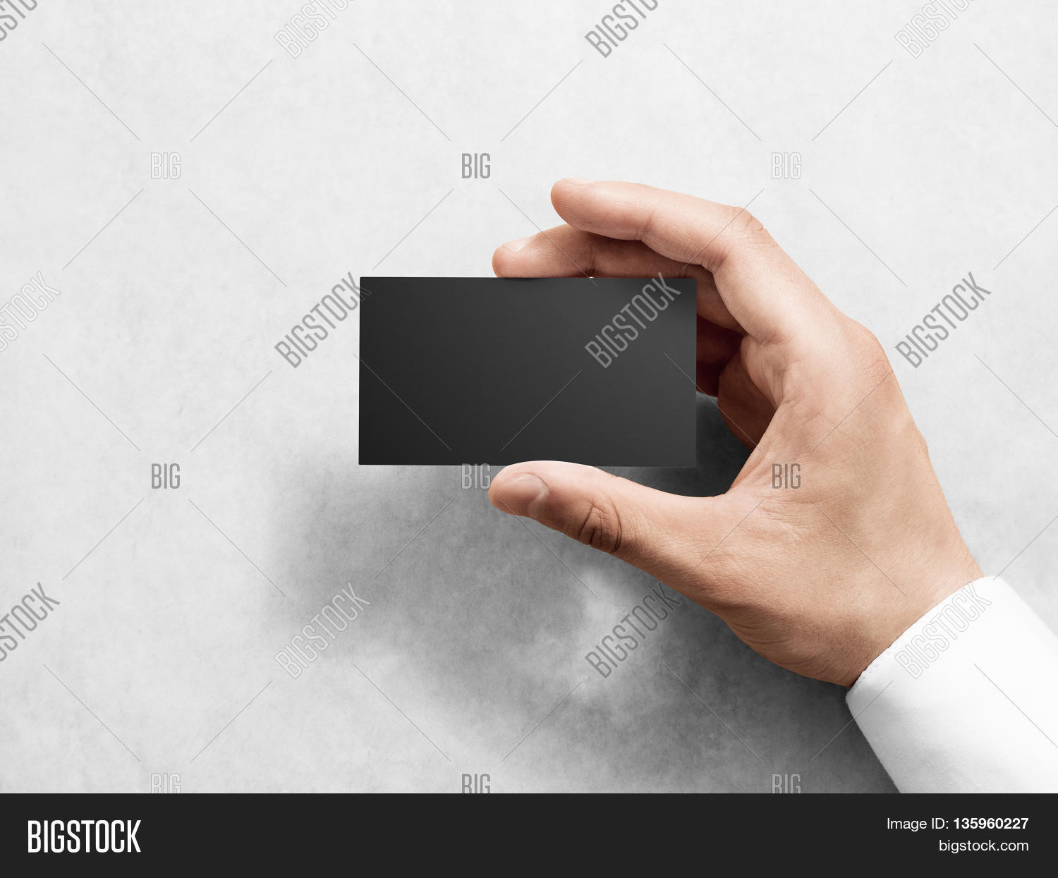 Hand Holding Blank Plain Black Image & Photo | Bigstock