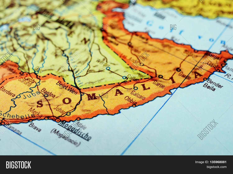 Mogadishu Africa Map.Africa Map Somalia Image Photo Free Trial Bigstock
