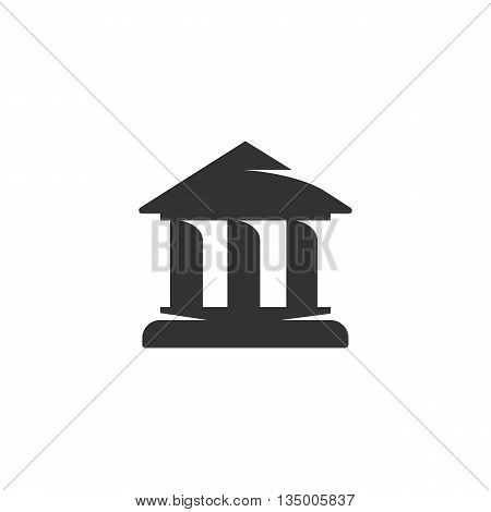 Building icon on white background. Bank, University, Office icon. Flat design style. Modern vector pictogram for web graphics - stock vector