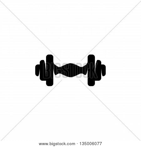 Dumbbell icon on white background. Dumbbell vector logo. Sports Equipment. Flat design style. Modern vector pictogram for web graphics. - stock vector