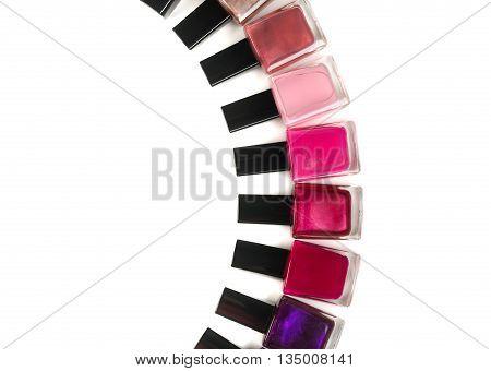 Nail polishes. Isolate on white background make-up