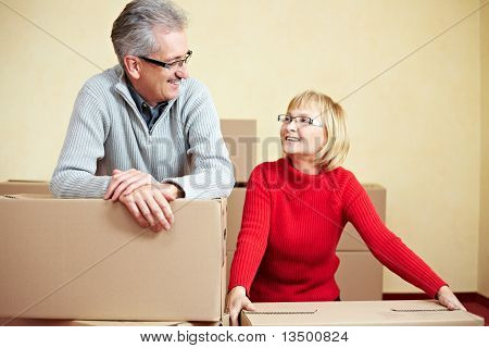 Married Couple Relocating House