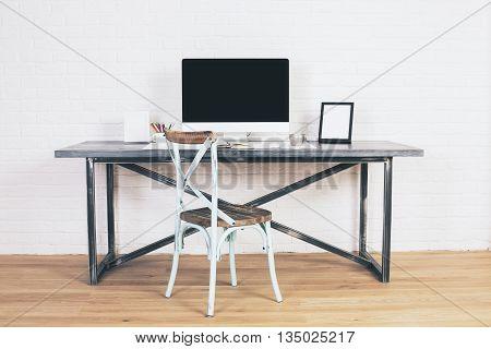 Antique Chair At Designer Desk