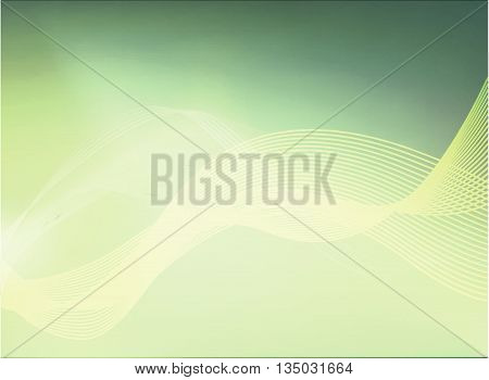 Abstract Background with Aurora Borealis in green color