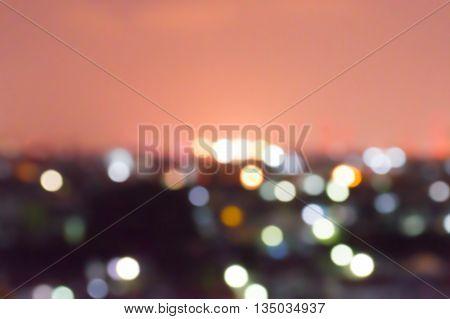 abstract at bangkok, thailand  tonight background blur