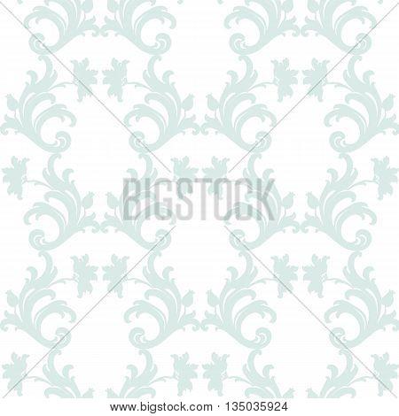 Damask luxury floral ornament leaf pattern. Vector