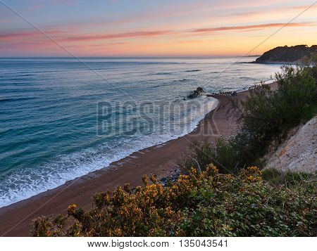 Sunrise Ocean Coast Landscape (bay Of Biscay).
