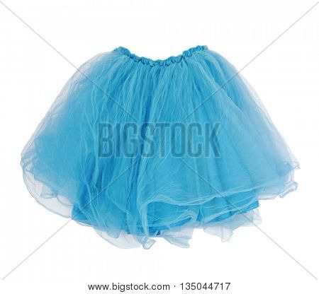 blue skirt isolated on white background