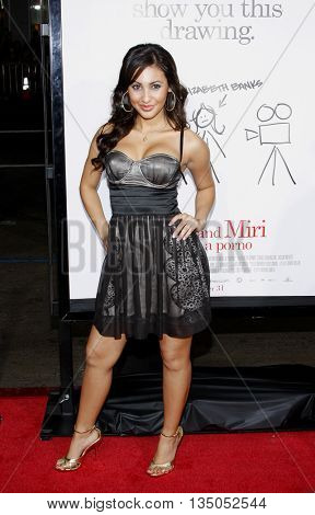 Francia Raisa at the Los Angeles premiere of 'Zack and Miri Make a Porno' held at the Grauman's Chinese Theater in Hollywood, USA on October 20, 2008.