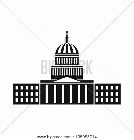 Capitol icon in simple style isolated on white background