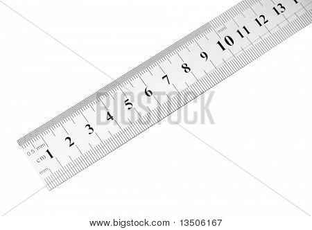 steel ruler isolated