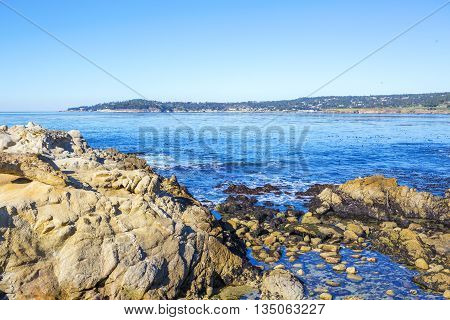 Stones Ocean Beach. Carmel, California