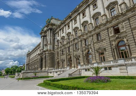 Beautiful View Of Famous Naturhistorisches Museum (natural History Museum) Vienna