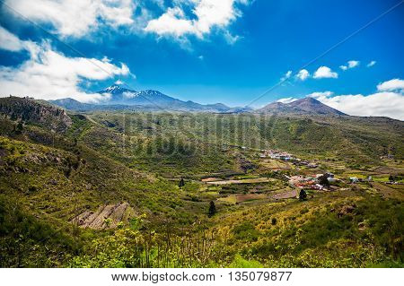Panoramic View Of Valle De Arriba
