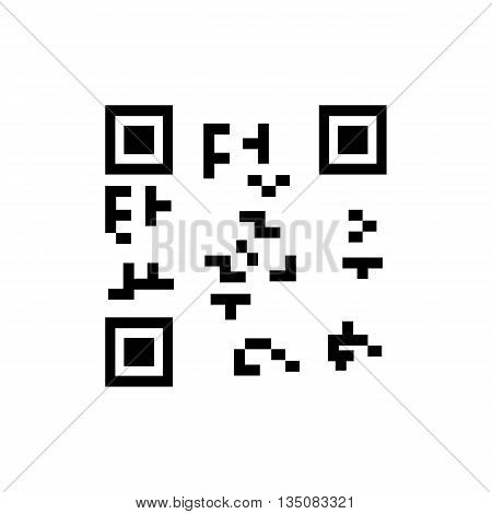 QR code . Vector illustration on a white background .