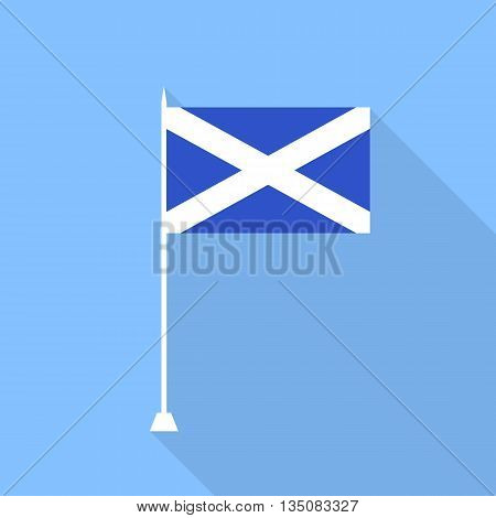Scotland Flag.Vector illustration in a flat style.
