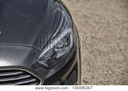 Wroclaw, Poland, May 28, 2016: Close Up On Ford C-max Light On Motoshow On May 28, 2016 In Poland