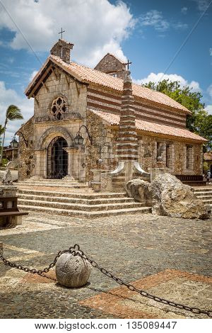 Church in Altos de Chavon La Romana Dominican Republic