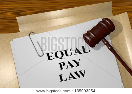 Equal Pay Law Legal Concept