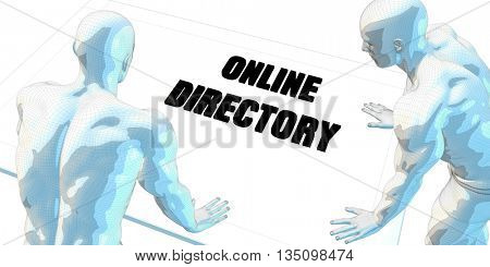 Online Directory Discussion and Business Meeting Concept Art 3D Illustration Render
