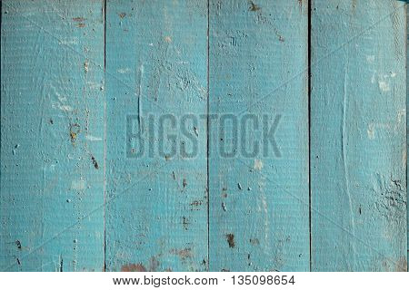 Wooden boards painted in blue color use for background