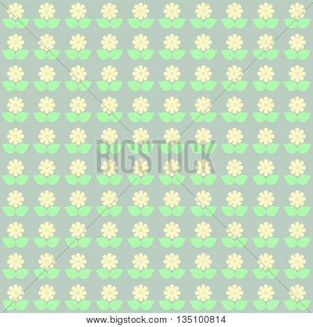 Abstract cute floral pattern in pastel tones.