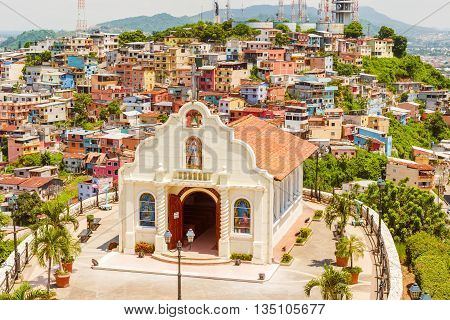 Small Catholic Chapel In Cerro Santa Ana Guayaquil