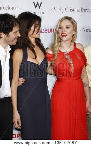 Penelope Cruz and Scarlett Johansson at the Los Angeles premiere of 'Vicky Cristina Barcelona' held at the Mann Village Theater in Westwood, USA on August 8, 2008.