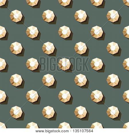 vector seamless pattern of rhinestones on dark background
