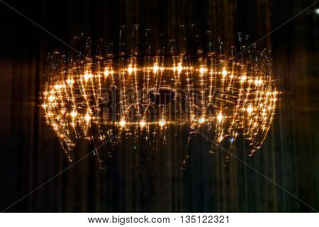 Abstract Brightness Of Larger Chandelier