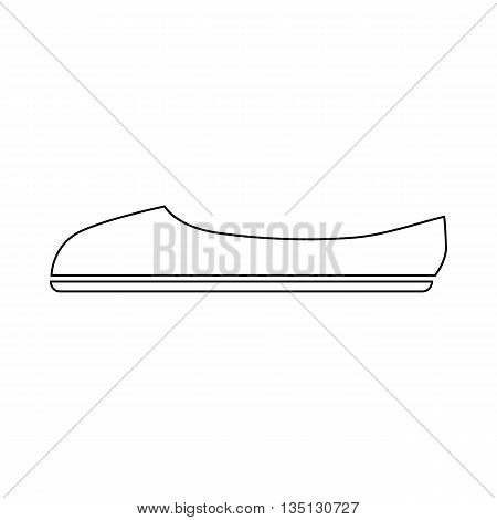 Ballet shoe icon in outline style on a white background