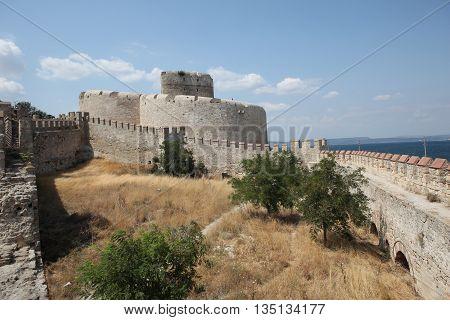 Old Ottoman Kilitbahir Castle in Gallipoli Peninsula, Canakkale, Turkey