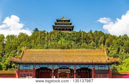 North Gate and Wanchun Pavilion in Jingshan Park - Beijing, China