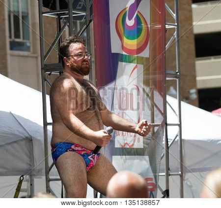 Boise, Idaho/usa - June 20, 2016: Big Dipper On Stage During His Performance At The Boise Pridefesti