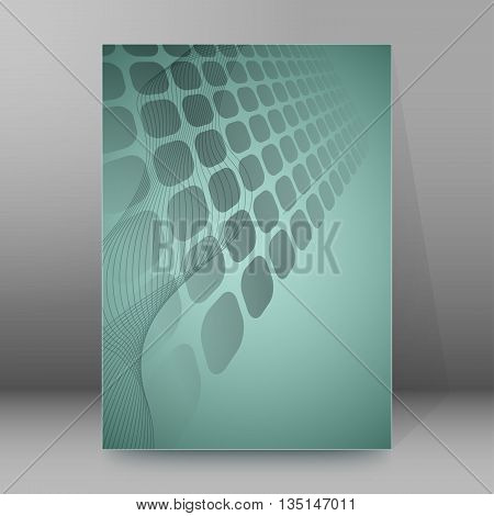 Brochure Cover Template Vertical Format Glowing Background13