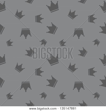 Seamless Crown King And Queen Attribute Background Pattern